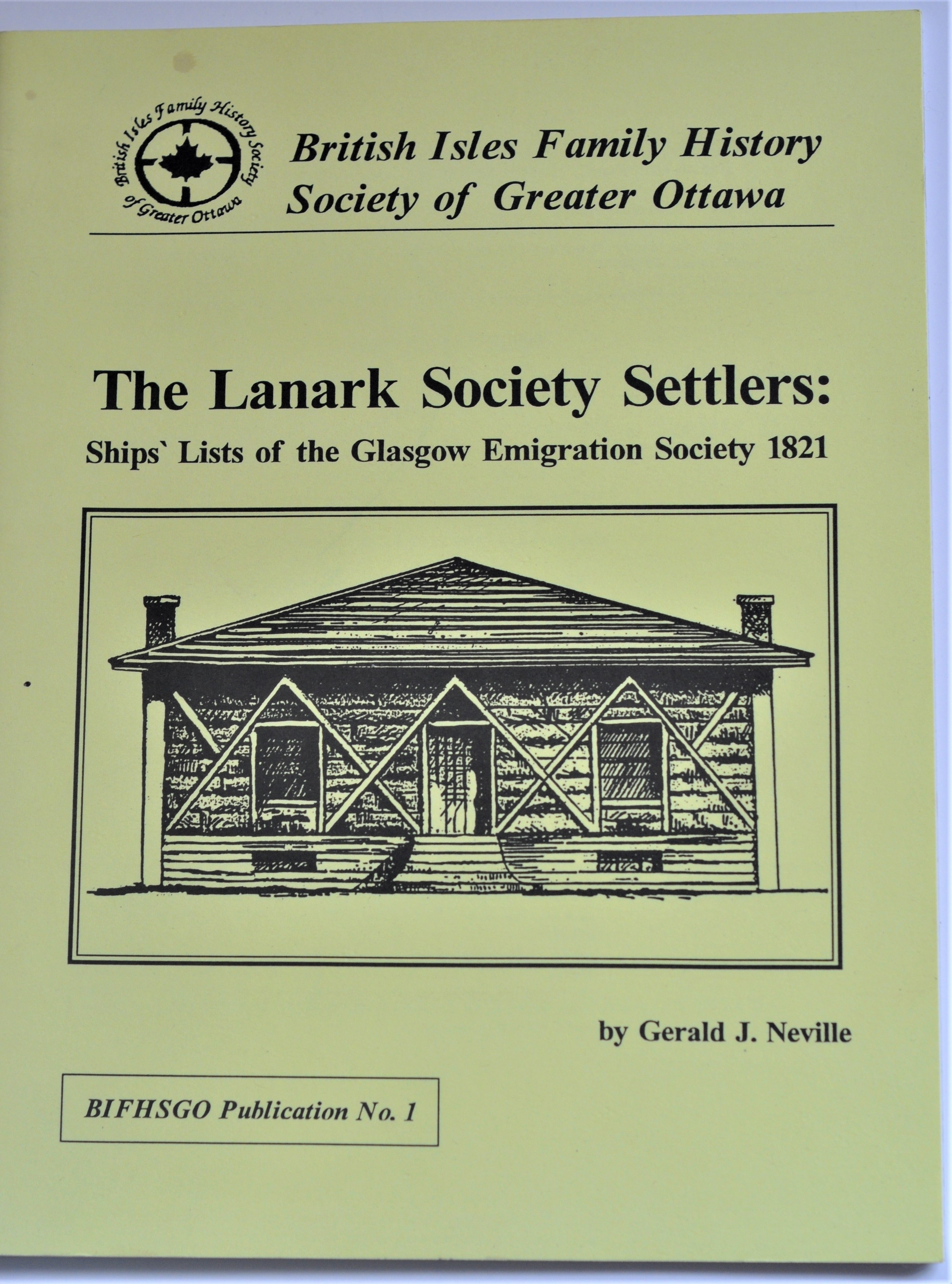 The Lanark Society Settlers, Ship's Lists of the Glasgow Emigration Society 1821